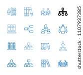 organization icon. collection...   Shutterstock .eps vector #1107937385