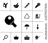 handle icon. collection of 13... | Shutterstock .eps vector #1107937454