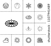 sunny icon. collection of 13... | Shutterstock .eps vector #1107941489
