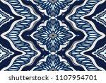 ikat seamless pattern. vector... | Shutterstock .eps vector #1107954701