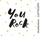 ink lettering and gold glitter... | Shutterstock .eps vector #1107961094