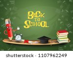 education concept for back to... | Shutterstock .eps vector #1107962249