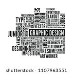 graphic design words background | Shutterstock .eps vector #1107963551
