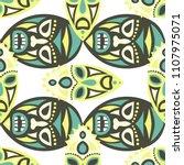 seamless pattern. tribal... | Shutterstock .eps vector #1107975071