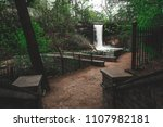 footpath leading to a waterfall   Shutterstock . vector #1107982181