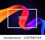 abstract. colorful flow fabric... | Shutterstock .eps vector #1107985769