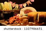 brazilian food for june feast.... | Shutterstock . vector #1107986651