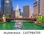 chicago  illinois  usa... | Shutterstock . vector #1107986705