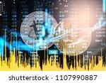 modern way of exchange. bitcoin ... | Shutterstock . vector #1107990887