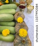 buddha and hindu fruits and...   Shutterstock . vector #1107992084