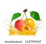 splash with egg plum isolated...   Shutterstock . vector #110799437