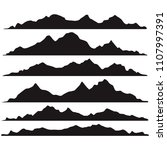 mountains silhouettes on a... | Shutterstock .eps vector #1107997391