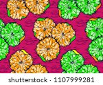 textile fashion african print... | Shutterstock .eps vector #1107999281