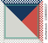 simple square border silk scarf ... | Shutterstock .eps vector #1108000217