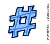 hand drawn hashtag symbol... | Shutterstock .eps vector #1108002461