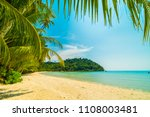 beautiful tropical beach and... | Shutterstock . vector #1108003481