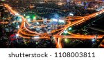 bangkok night light. | Shutterstock . vector #1108003811