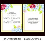 invitation with floral... | Shutterstock . vector #1108004981