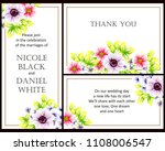 romantic invitation. wedding ... | Shutterstock . vector #1108006547