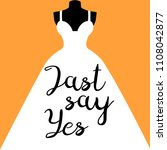 """just say yes"" lettering on the ... 