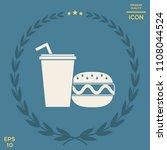 hamburger or cheeseburger ...   Shutterstock .eps vector #1108044524