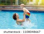 mother and baby in outdoor...   Shutterstock . vector #1108048667
