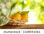fresh yellow mango beautiful... | Shutterstock . vector #1108051061