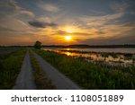 sunset over horicon marsh   Shutterstock . vector #1108051889