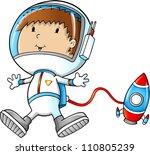 astronaut space walking vector... | Shutterstock .eps vector #110805239
