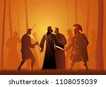 biblical vector illustration...   Shutterstock .eps vector #1108055039