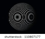 black and white computer...   Shutterstock . vector #110807177