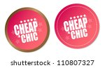 cheap   chic stickers   Shutterstock . vector #110807327