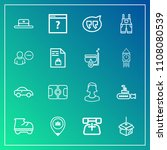 modern  simple vector icon set... | Shutterstock .eps vector #1108080539