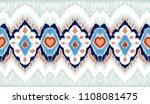 ikat geometric folklore... | Shutterstock .eps vector #1108081475