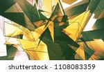 bright gold and green... | Shutterstock . vector #1108083359