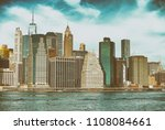 downtown manhattan and east... | Shutterstock . vector #1108084661
