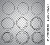 line sketched circles set | Shutterstock .eps vector #1108090214