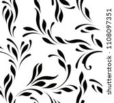 floral seamless pattern. swirls ... | Shutterstock .eps vector #1108097351