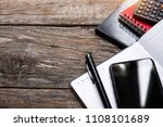 tablet and smart phone .on... | Shutterstock . vector #1108101689