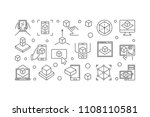ar technology vector concept... | Shutterstock .eps vector #1108110581