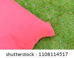 close up to red bean bag on the ...   Shutterstock . vector #1108114517