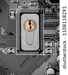 macro photo of circuit board... | Shutterstock . vector #1108118291