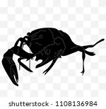 black silhouette of a... | Shutterstock .eps vector #1108136984