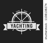 yachting club logo set.... | Shutterstock .eps vector #1108138274
