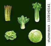 set of realistic vegetables... | Shutterstock .eps vector #1108140161