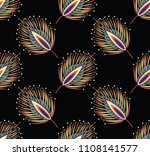 seamless abstract feather...   Shutterstock .eps vector #1108141577