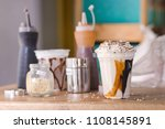 plastic cup with served... | Shutterstock . vector #1108145891