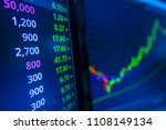 stock market graph analysis.... | Shutterstock . vector #1108149134