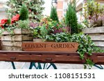 flora filled cart  advertising... | Shutterstock . vector #1108151531