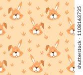 smile animal face seamless... | Shutterstock .eps vector #1108163735